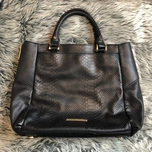 Jennifer Lopez Faux Leather Snakeskin Print Hobo Bag with ALL the Pockets